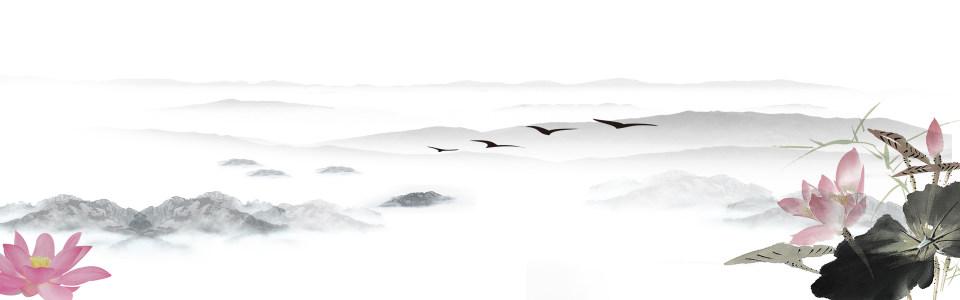 彩色中国风banner设计背景