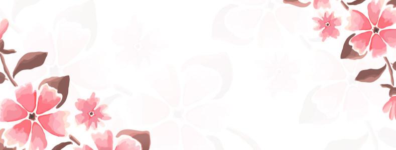 简约水彩花卉banner背景