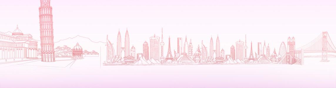 手绘城市建筑背景