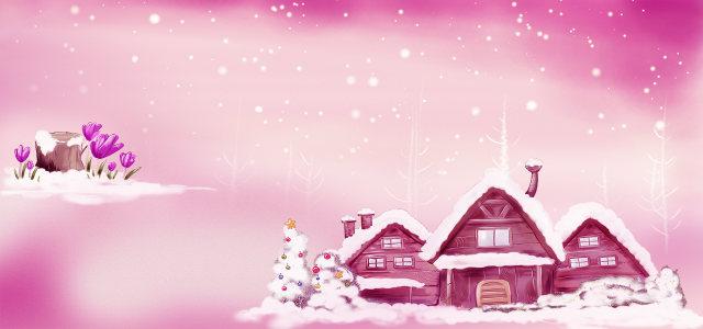 浪漫冬季背景