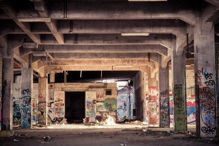 恐怖建筑场景背景