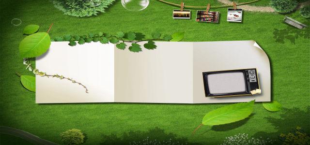 时尚绿色商业海报高清背景图片素材下载