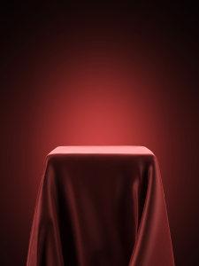 红色丝绸展示台背景