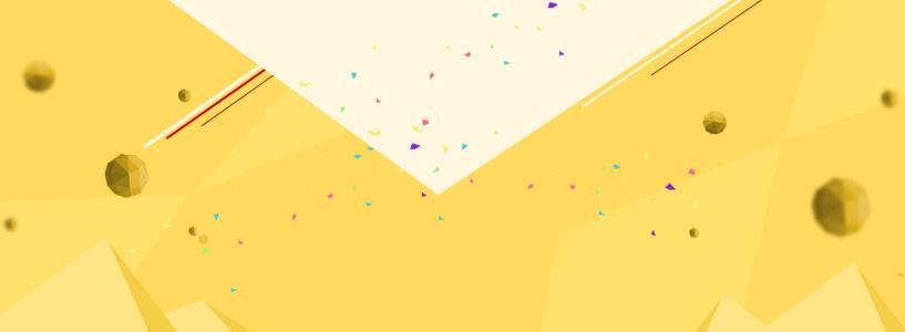 创意黄色背景