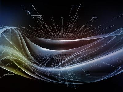 抽象光线与波动线条背景
