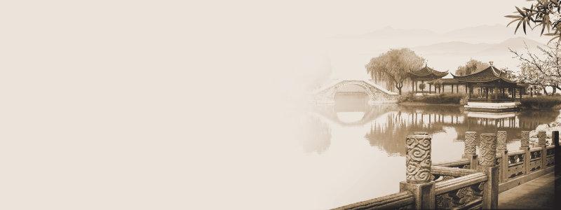 中国风地产海报高清背景图片素材下载