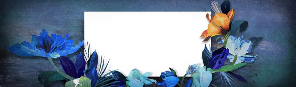 手绘创意花朵背景banner