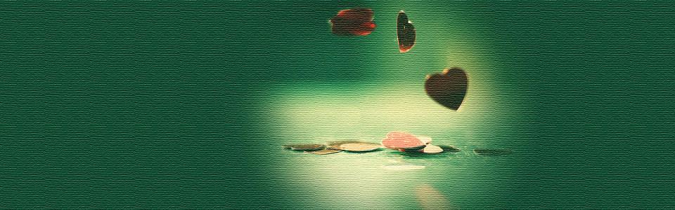 清新绿色爱心海报背景高清背景图片素材下载
