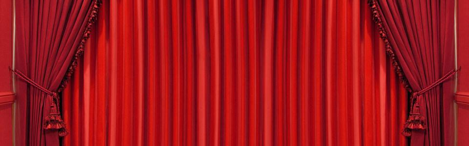 大红色喜庆帷幕海报背景