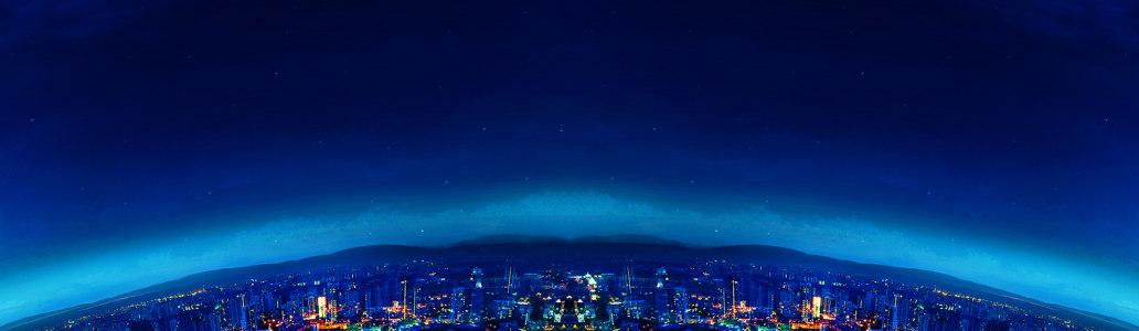 蓝色夜空淘宝海报背景