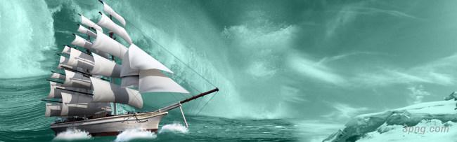蓝天海洋帆船背景背景高清大图-帆船背景自然/风光