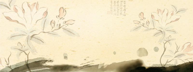 复古风莲花背景