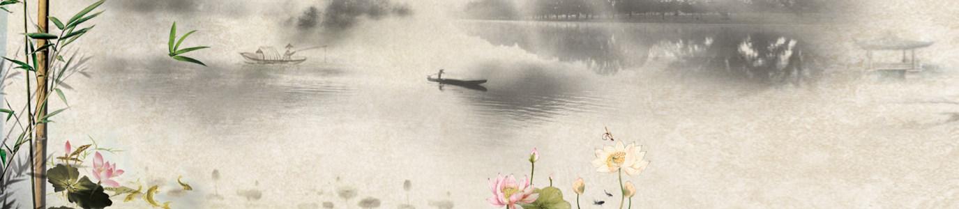唯美淡雅中国风banner背景高清背景图片素材下载