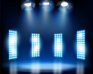 蓝色灯光舞台背景