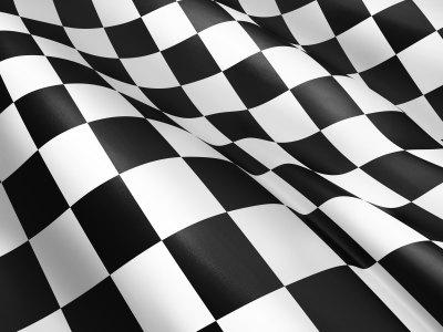 黑白格子旗