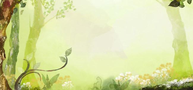 神秘森林背景高清大图-森林背景自然/风光