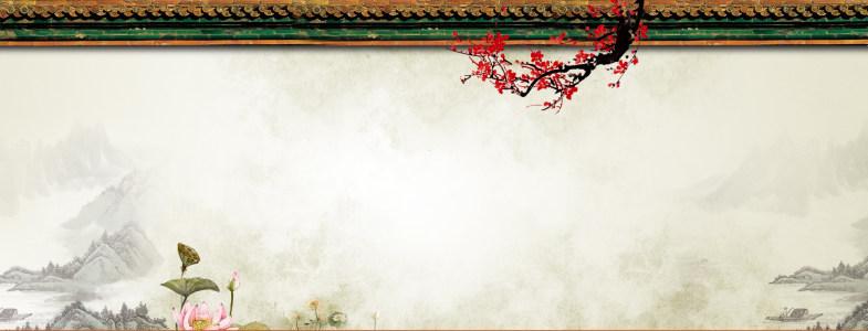 唯美淡雅中国风banner设计展板