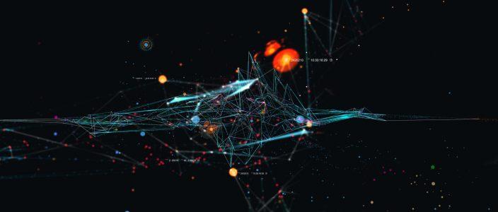 抽象科技几何线条背景