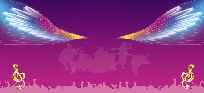 紫色舞台背景