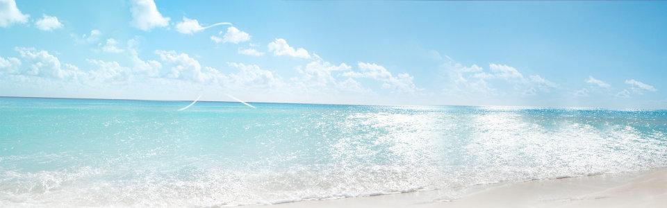 大气夏季女装海滩背景