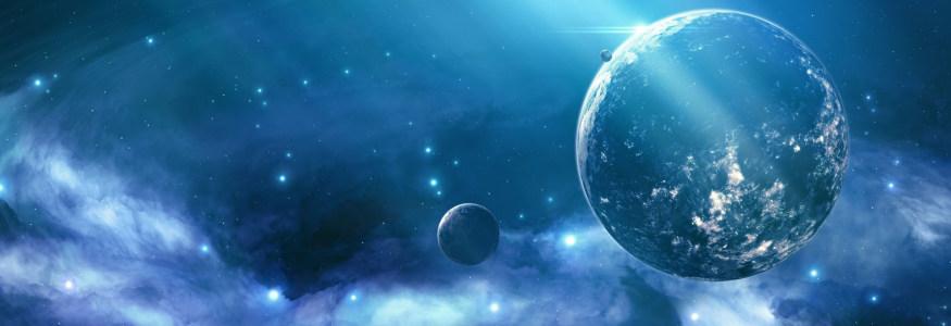星际科幻背景banner设计