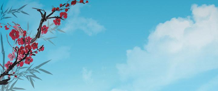 蓝色 中国风高清背景图片素材下载