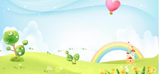 清爽蓝天彩虹背景