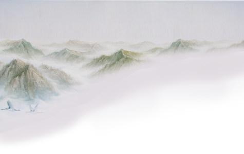 大气山水背景