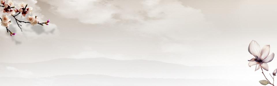 山水海报背景