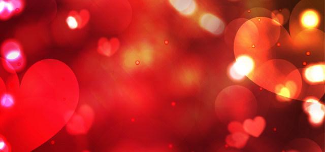 情人节爱心红色背景高清背景图片素材下载