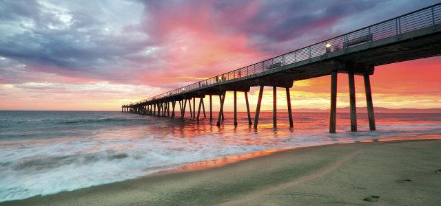 天空大海沙滩背景高清背景图片素材下载