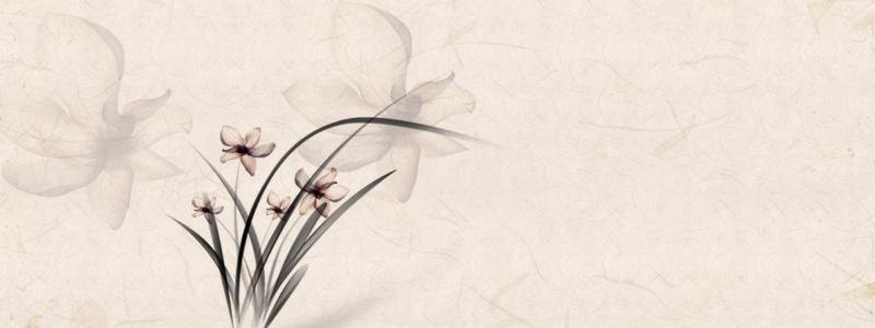 复古花朵背景