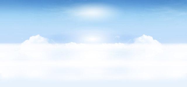蓝色天空白云背景高清背景图片素材下载
