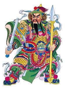 传统门神高清背景图片素材下载