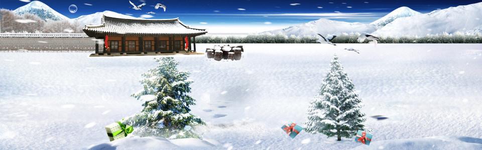冬季淘宝海报高清背景图片素材下载