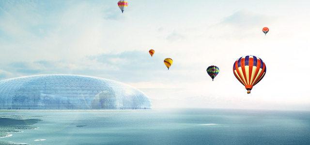 唯美蓝色大海背景高清背景图片素材下载