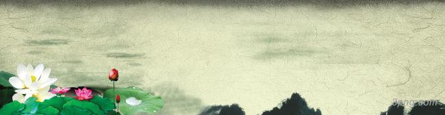 梦里江南水墨中国风海报背景高清大图-风海背景Banner海报