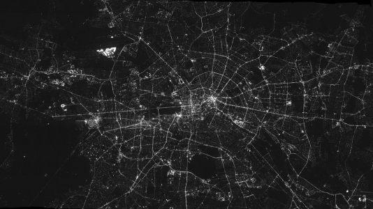 科技感地图底纹背景