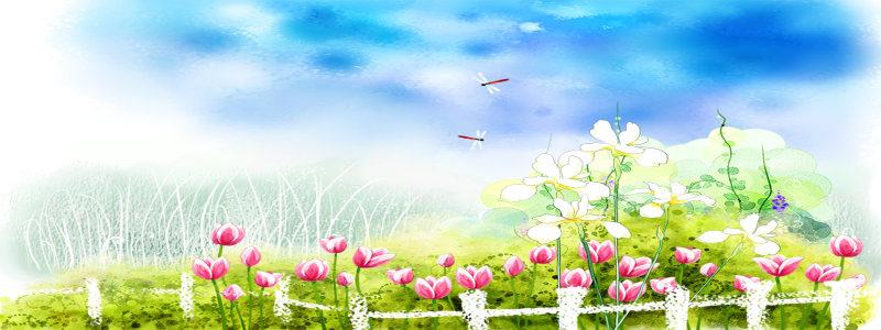 春天海报背景高清背景图片素材下载