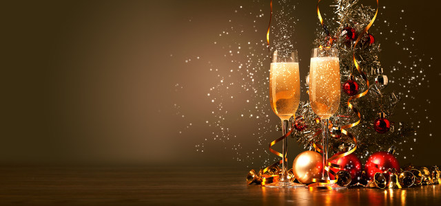 缤纷节日庆祝香槟酒背景