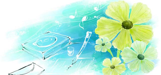 韩国手绘花朵背景