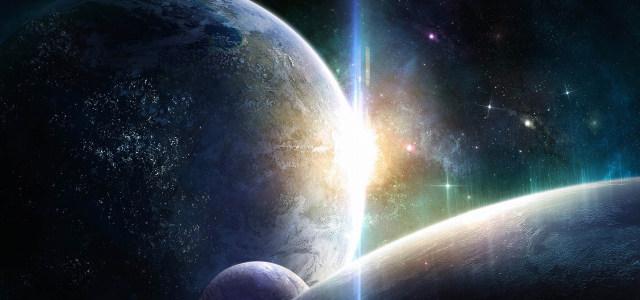 太空星球极光高清背景图片素材下载