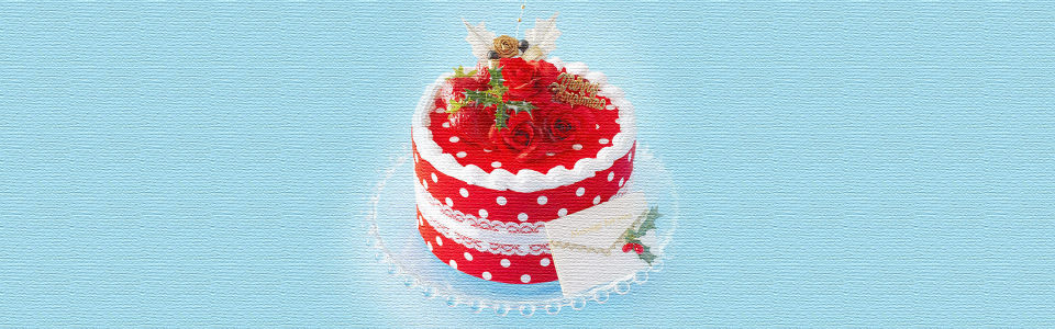 唯美蛋糕美食海报背景