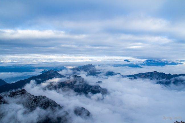 山峰山顶云山云海背景背景高清大图-云山背景自然/风光