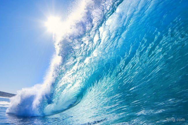 海浪海水背景背景高清大图-海浪背景自然/风光