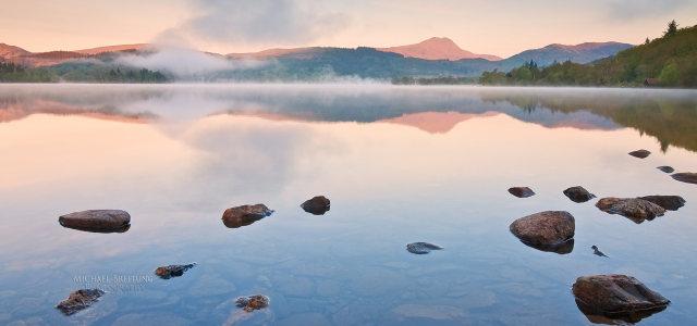 湖水自然风光背景