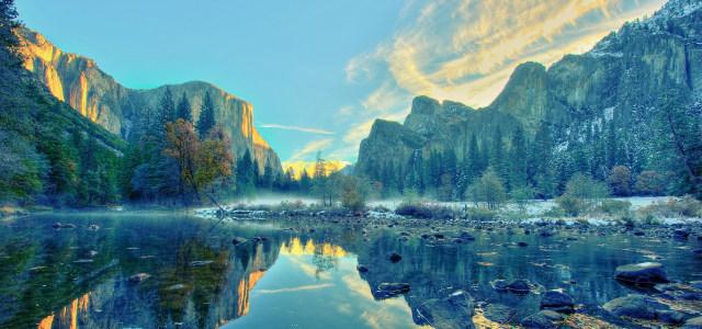 天空下的自然风光高清背景图片素材下载
