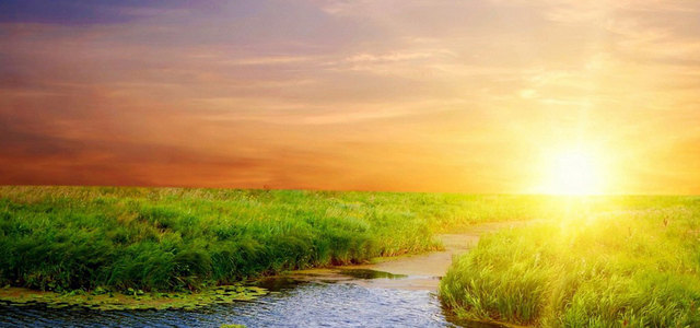 阳光天空草原背景高清背景图片素材下载