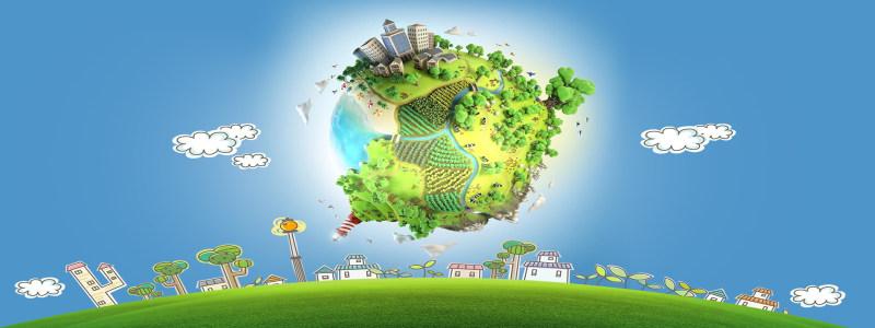 卡通地球背景高清背景图片素材下载