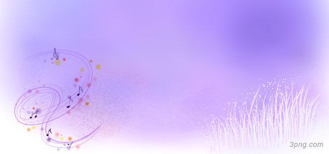 紫色手绘花背景背景高清大图-手绘背景卡通/手绘/水彩